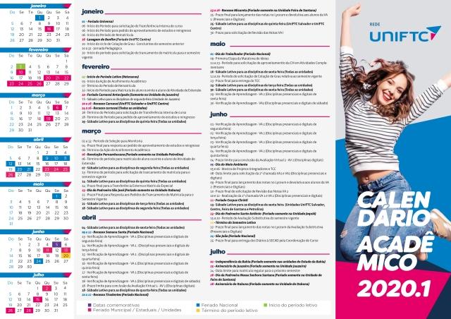 CALENDÁRIO_ACADÊMICO_2020_1_UniFTC_CARTAZ