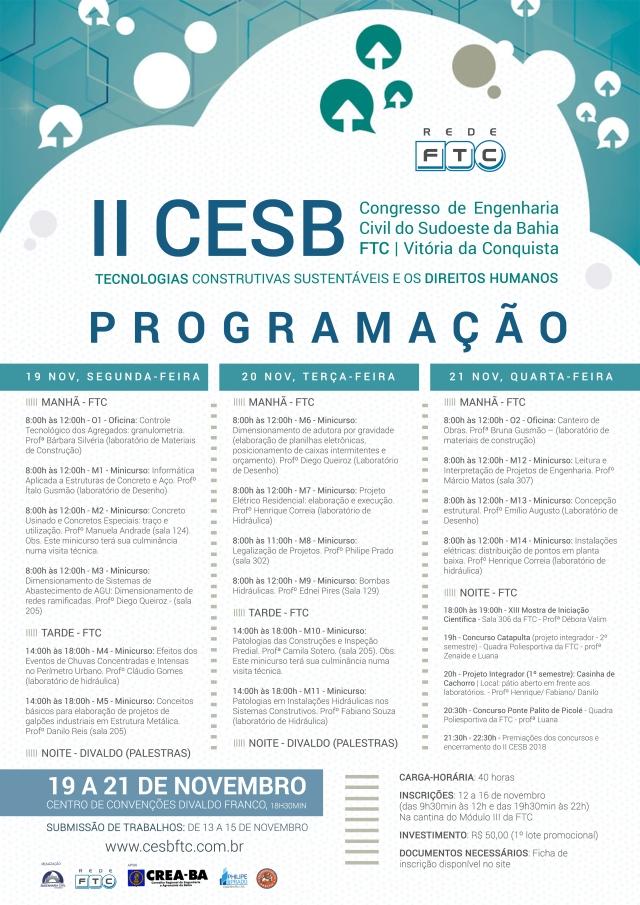 II CESB - Programação (minicursos)